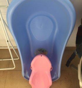 Ванночка с горкой для купания малыша