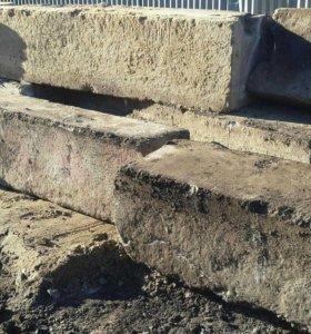 Блоки бетонные,плиты б/у