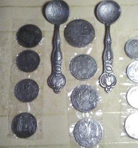 Монеты ложки