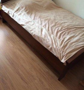 Кровать двуспальная без матраца