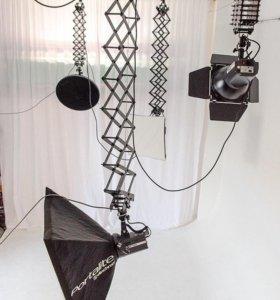 5х4 м. Потолочная подвесная система света
