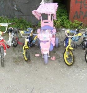 Велосипеды детские от 1 до 6 лет новые