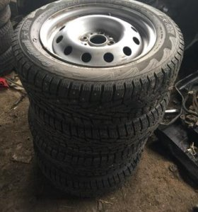Зимние колеса R14 на дисках для Нексии 4х100
