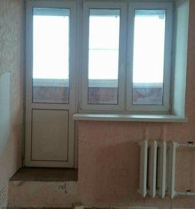 Балконный стеклопакет (дверь+окно)
