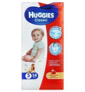 Huggies classic 5 подгузники