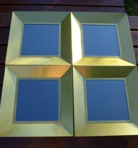 """Потолок подвесной зеркальный наборный """"Золотой"""""""