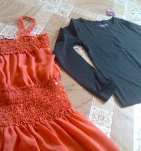 Кофта и платье на девочку 12-13лет.