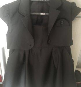 Школьный комплект (юбка, жилетка)