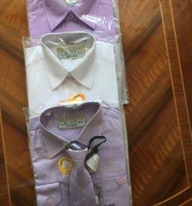 Рубашка школьная для мальчика новая рост 134-140