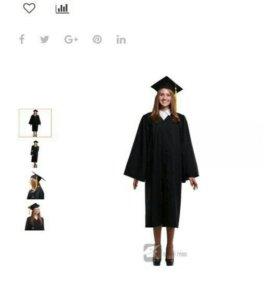 Мантия выпускника (плюс конфедератка и галстук)