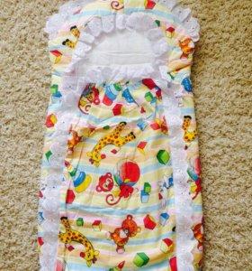 Летний конверт для новорожденного