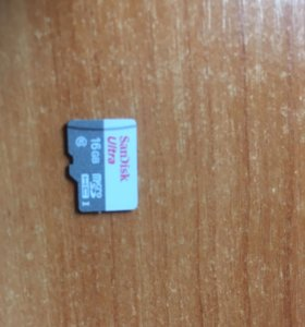 Карта памяти MicroSD SanDisk 16gb