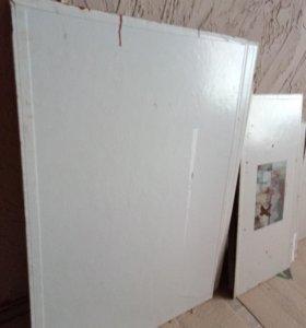Холст грунтованный на картоне Б/У, под закраску