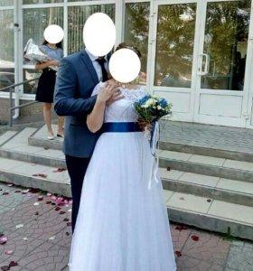 Нежное свадебное платье + дополнительная юбка
