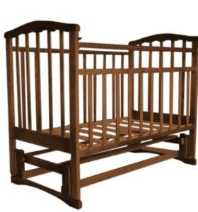 Кроватка Агат Золушка с маятником и матрасом