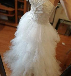 Платье свадебное лебедь
