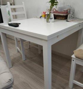 Стол кухонный раздвижной икеа