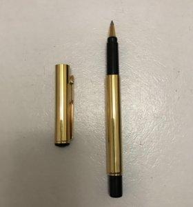 Ручка-роллер «Parker» позолоченная