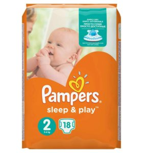 Подгузники Pampers Sleep&Play 2 (3-6 кг) 18+4 шт