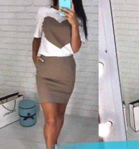 Костюм новый,платье