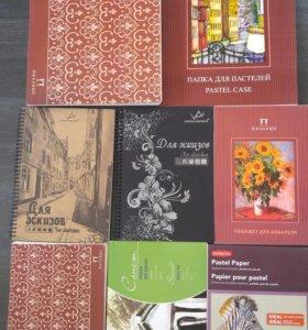 альбомы для рисования (пастель, графика, ак