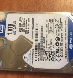Жёсткий диск для ноутбука WD Blue WD10jpvx 1тб