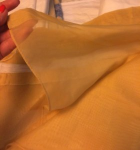 Тюль штора бежевая с лентой