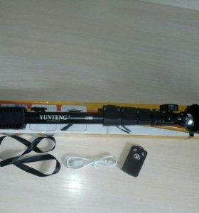 Шикарный монопод (селфи-палка) + Bluetooth пульт