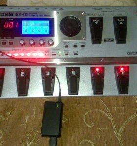 Гитарный процессор эффектов boss GT-10