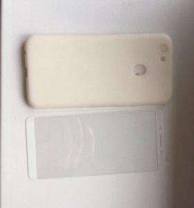 Чехол и 3д стекло Oppo f5