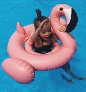 """Детский надувной круг """"Фламинго"""""""