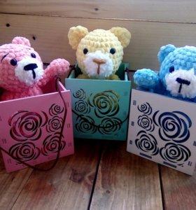 Березовые ящики для подарков