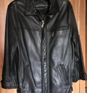 Кожаная мужская куртка, р.52-54