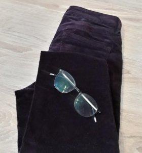 Вильветовые зауженные брюки