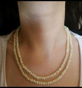 Ожерелье из натурального речного жемчуга
