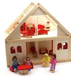 Дом с мебелью и куколками!!!На заказ!!!