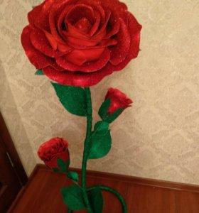 Глитерная роза