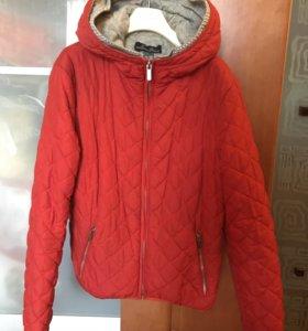Красная куртка для девочек