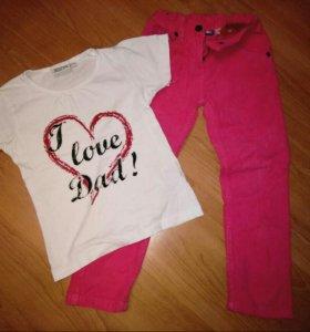 Брючки + футболка для девочки