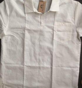 Рубашка -поло новая лён