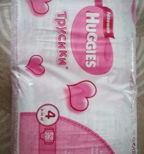 Huggies для девочек 4 (9-14 кг) 52 шт