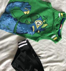 Плавки фирменные Adidas для мальчика 4-5 лет