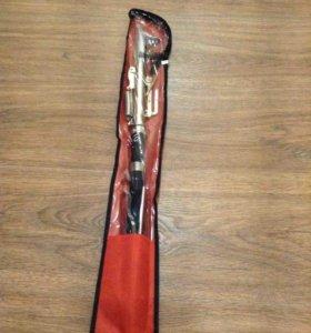 Самоподсекающая удочка (210 см, 240 см) + катушка.
