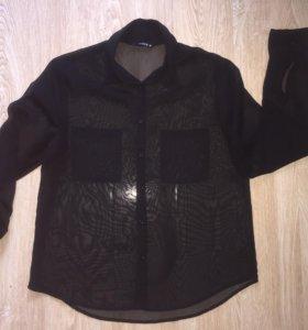 Чёрная блузка, рубашка