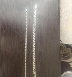 Цепи серебро