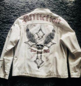 Affliction кожаная куртка б/у оригинал