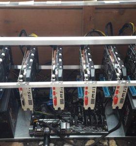 Ферма для майнинга на 6*MSI 1060 6Gb (6GT OCV1)