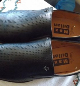 Туфли мужские,кожа.
