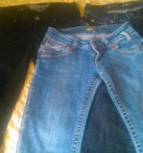 Брюки джинсовые женские, цвет черный, голубой, син