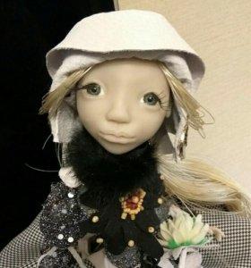 Кукла ручная работа фимо